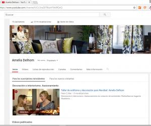 Pantallazo Youtube Amelia Delhom